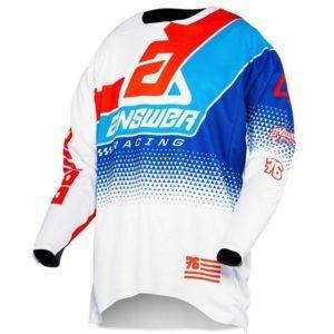 elite korza jersey white red hyper blue